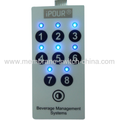 custom push button membrane switch with LED