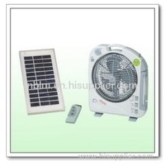 portable rechargeable solar fan