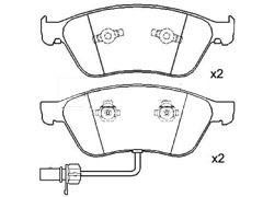 AUDI A6 fron brake pads
