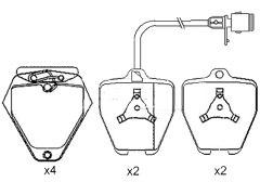 AUDI A8 front brake pads