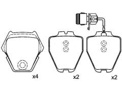 AUDI A8 front brake pad sets