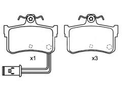 HONDA LEGEND brake pads sets 43022-SG9-V00