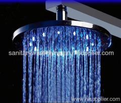 Temperature Automatic Led Rain Shower Heads For Bath