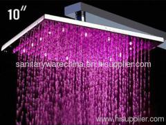 Romantic 4 Color LED Light Rain Shower Heads Supplier