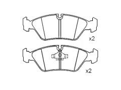 brake pads PORSCHE 928 34111157510 34111155076