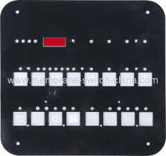 Aluminum Alloy Metal Membrane Switch Backplate