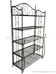 Rectangular folding wrought iron shelf