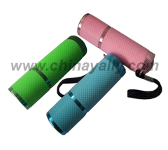 Fluorescence Cover Aluminum Flashlight