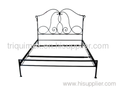 Wrought iron knock down bed