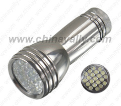Aluminum LED light torch
