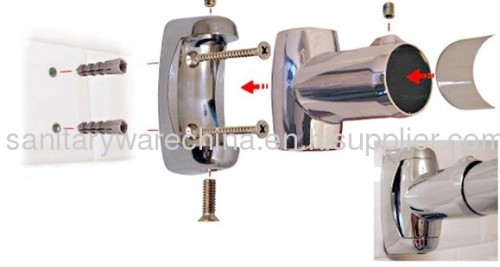 Curved Shower Curtain Rods With Shiny Finish From China Manufacturer