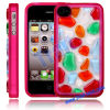 Soft Colorful Stone TPU Case Cover for iPhone 4S / iPhone 4 (Red)
