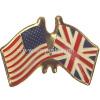 Flag pin badge