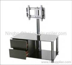 2012 hot selling glass LCD TV table with bracket