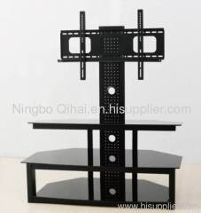 Elegant Oval revolving lcd tv stand,tv table with bracket