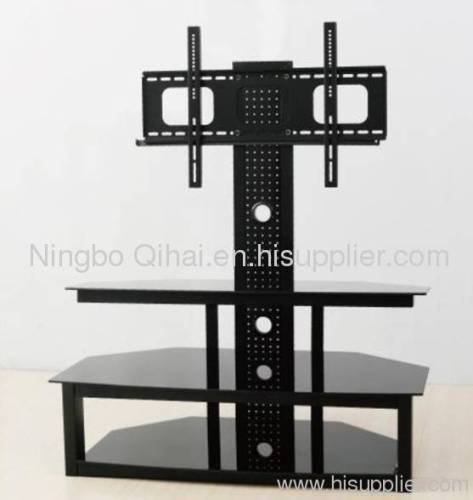 Elegant Oval Revolving Lcd Tv Stand Table With Bracket