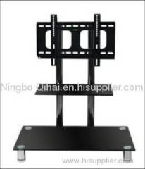 modern classic glass lcd tv stand brackets, tv table for flat screen