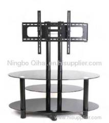 Modern style glass furniture TV stand with wall bracket