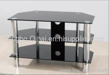 Tempered Glass LCD TV Table