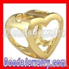 Cheap european Gold Heart Charm Wholesale