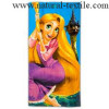 100% cotton printed velour beach towel