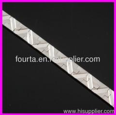 white gold plated barcelet