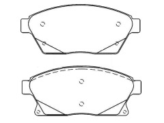 OPEL ASTRA J front brake pads
