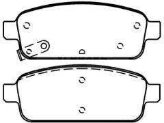 Rear brake pads OPEL ASTRA J china