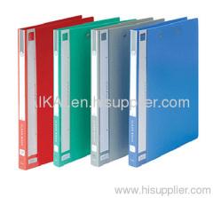 A4 PP Clip File with Single Pressure Clip & Pocket