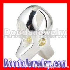 european Breast Cancer Ribbon Charm
