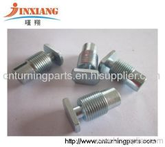 Machining parts with brass and zinc and steel and aluminum