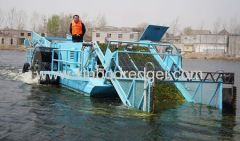 Aquatic weed harvester weed cutting ship