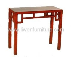 Old red altar table