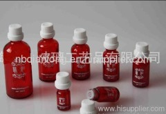 latest red essential oil bottle 5-100ml with white caps