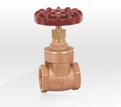 Bronze Gate Valve With Red Handle