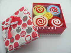 towels gift box candy shape