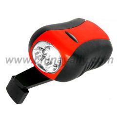 Hand Crank LED Flashlight Torch