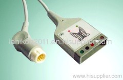 HP 5 Leads ECG cable