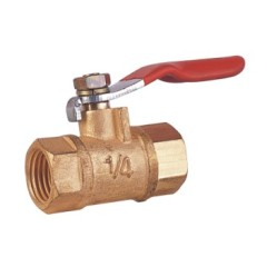 Forged Brass Double Female Threaded Mini Ball Valve