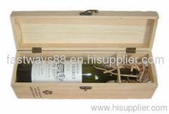wooden wine packing box