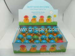squeaking Easter duck rubber baby toy