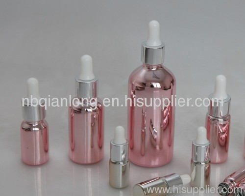 latest pink essential oil bottle 5-100ml with white caps