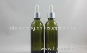 most popular slender yellow-gray oil bottle 60ml with HL ADB ring white plastic head alumina dropper