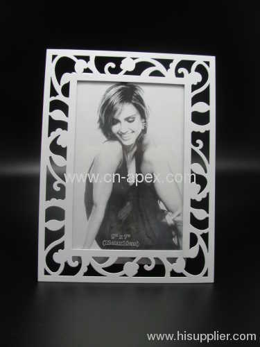 metal frame flower photoframe craft picture frames white