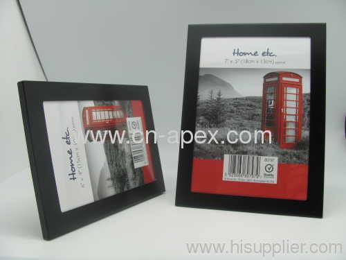 Black aluminum photo frame