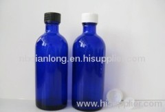 most popular long neck 100ml blue essential oil bottle mixed plastics cover+kong neisai