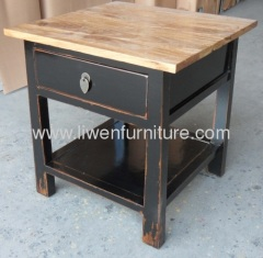 reproduction simple bedside table