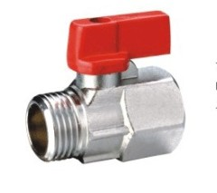 Brass MxF Mini Ball Valve With Nickle Plated