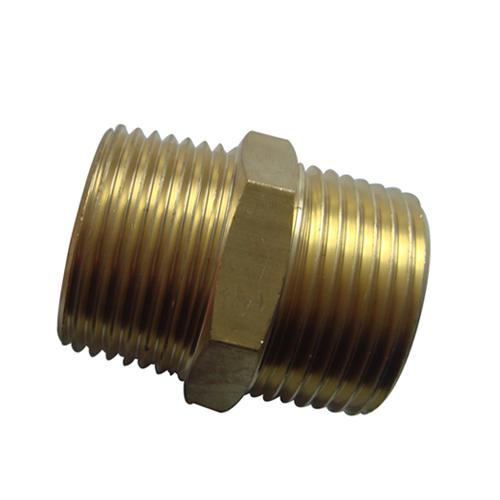 Brass male threaded pipe fitting with pickling or nickel