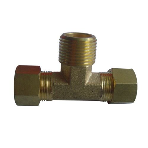Forged copper male thread union tee fittings from china